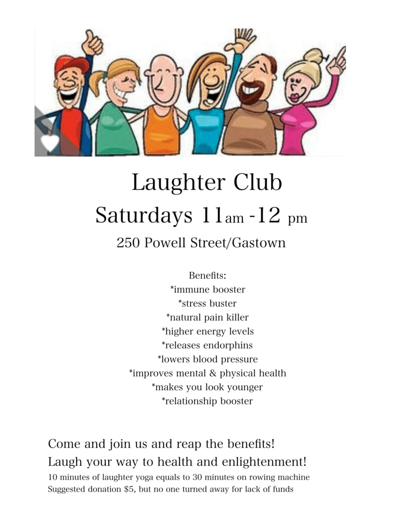 Laughter Yoga, 250 Powell Street, Vancouver, B.C, Canada